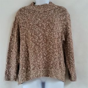 NORDSTROM Brown White Sweater Size L